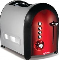 Morphy Richards 44346 Meno 2 Slice Red Toaster