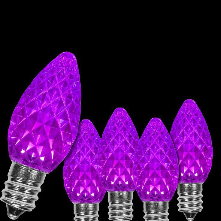 Wintergreen Lighting OptiCore C7 LED Purple Faceted