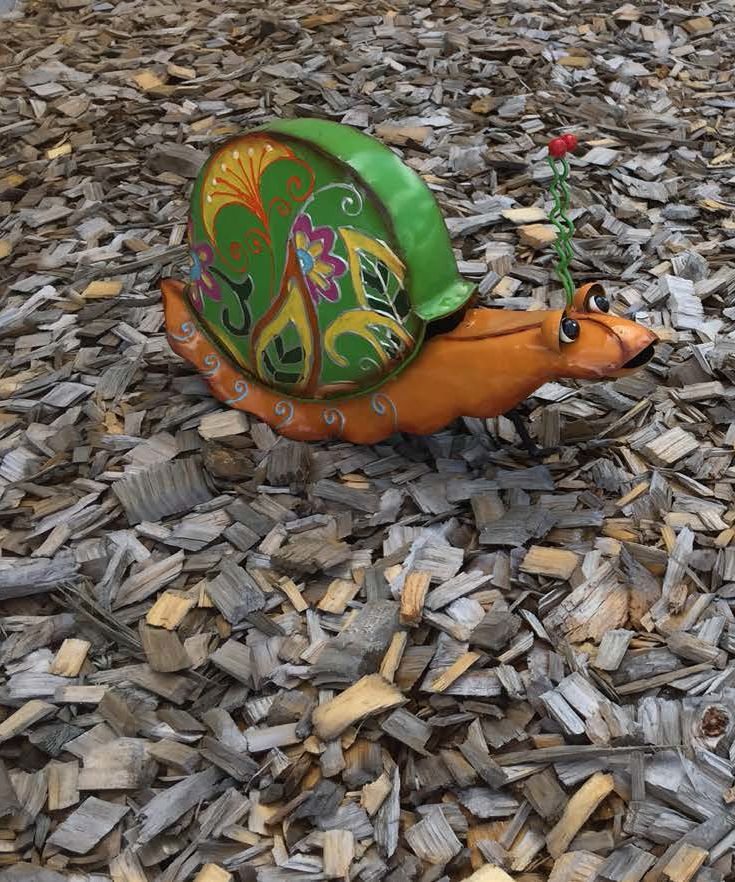 Colourful Snail a garden ornaments product of Dirlin-NZ