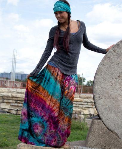 Tie-dye Skirt: Soul Flower Clothing