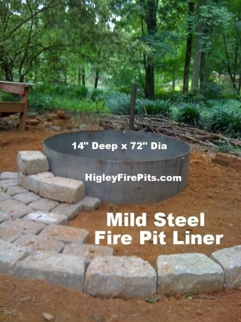 14 x 72 mild steel fire pit liner insert. We make Round-Square-Hexagon campfire ring inserts/liners.Mild Steel or Stainless Steel. www.HIgleyFirePits.com