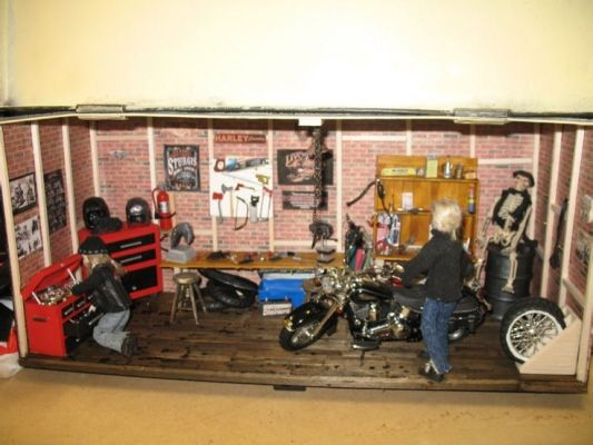 cool garage ideas pinterest - Motorcycle garage diorama