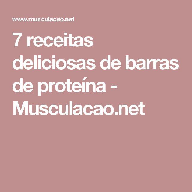 7 receitas deliciosas de barras de proteína - Musculacao.net