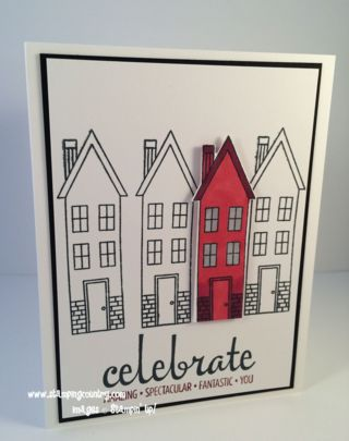 How to make a simple Card with Robin Feicht, Holiday Home, Fabulous Four, Stampin' Up!