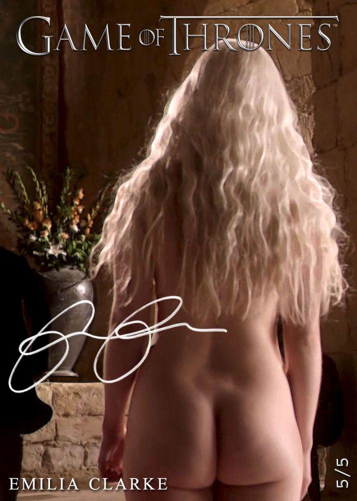 Daenerys Targaryen Emilia Clarke SEAT*Khaleesi XXX Game of Thrones 5/5 AutoRepro