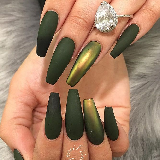 25 trending colorful nail designs ideas on pinterest pretty 36 fresh green nails ideas to get this season prinsesfo Images