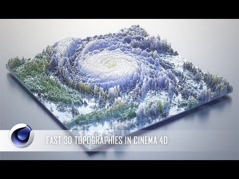 Fast 3D Topographies in Cinema 4D Tutorial - YouTube