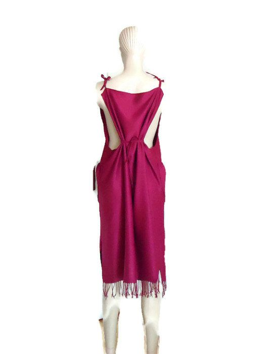 X 2X 3X  CLOTHING  Dark Red jumper pinafore by angelofanatolia, $43.00