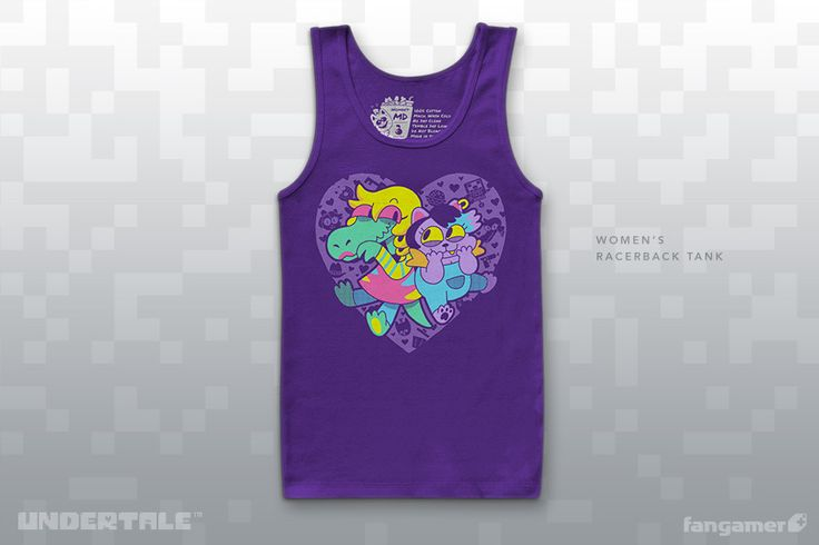 Ashley Davis's So Hyped design is also our first UNDERTALE tank top!