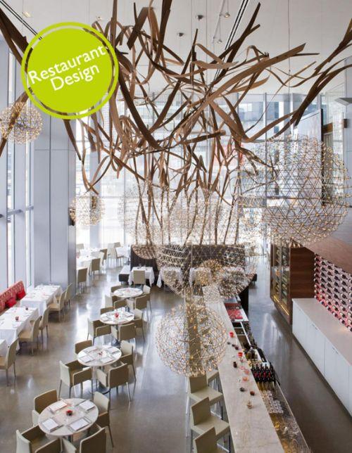 restaurant design aria restaurant by urszula tokarska stephen r pile architect - Beaded Inset Restaurant Interior