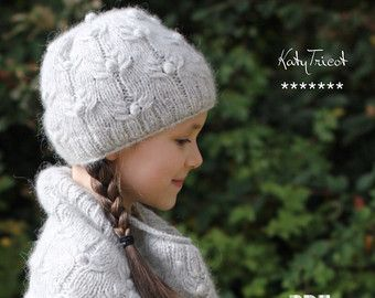 PDF Knitting Pattern Hat and Cowl COOL WOOL Toddler by KatyTricot