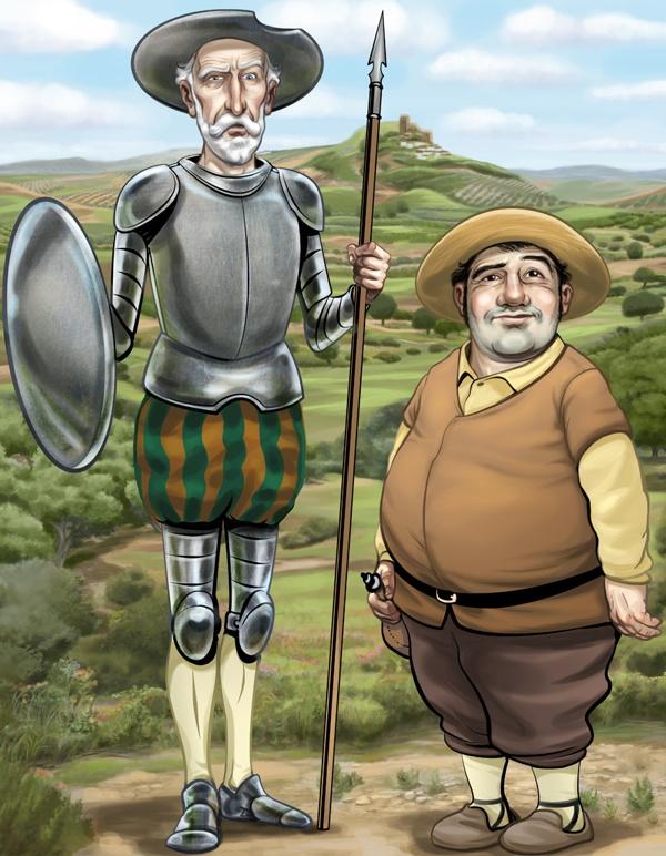Don Quijote and Sancho Panza [Javier Monsalvett]