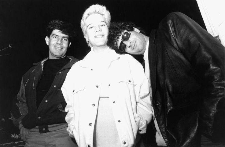 Alexandre Campbell/Estadão - O guitarrista Bruno Fortunato, a vocalista Paula Toller, e o saxofonista Jorge Israel, integrantes doKid Abelha, em 1989