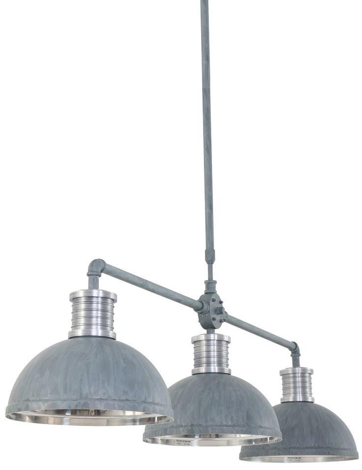 Drielichts hanglamp Steinhauer Brooklyn betongrijs - Hanglampen