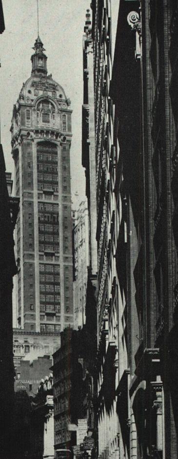 Singer Building - Broadway at Liberty Street, Manhattan. 41 stories. Demolished in 1968