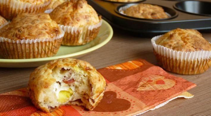 Muffins cu bacon si oua de prepelita