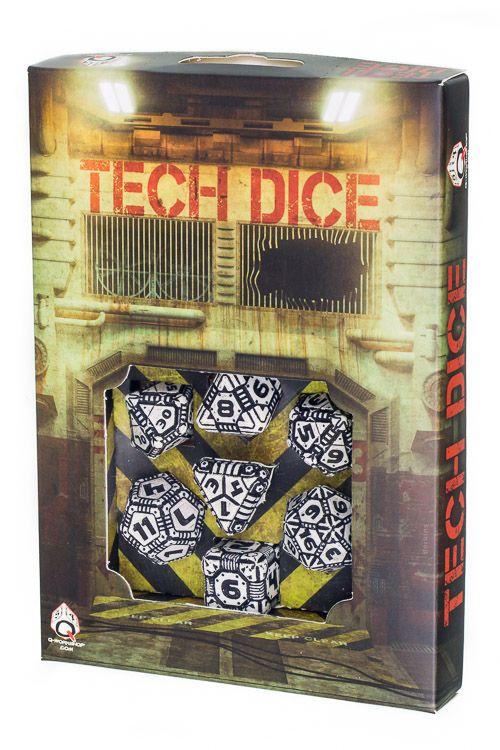 Tech Dice White-Black