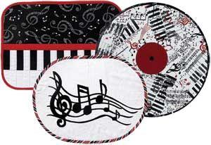 MUSICAL EXPRESSIONS PLACE MATS PATTERN.  Make as mug rugs.