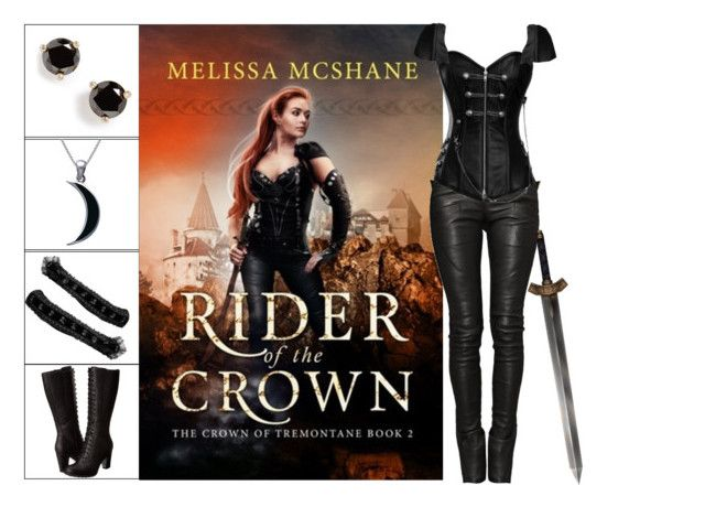 """Book Look: Rider of the Crown By Melissa McShane"" by xmikky ❤ liked on Polyvore featuring Balmain, Kate Spade, Timberland and Carolina Glamour Collection"