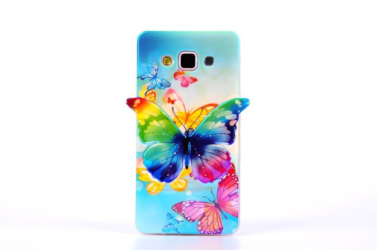 Hybrid Soft Silicon Case For Samsung Galaxy A5 A5000 A500f Shockproof 3D Glitter Blue Ray Butterfly Clear Gel Phone Cover Skin <