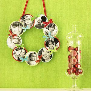 Homemade Christmas Crafts: Christmas Wreaths, Pictures Wreaths, Christmas Crafts, Gifts Ideas, Homemade Gifts, Families Photo, Diy Gifts, Photo Wreaths, Christmas Gifts