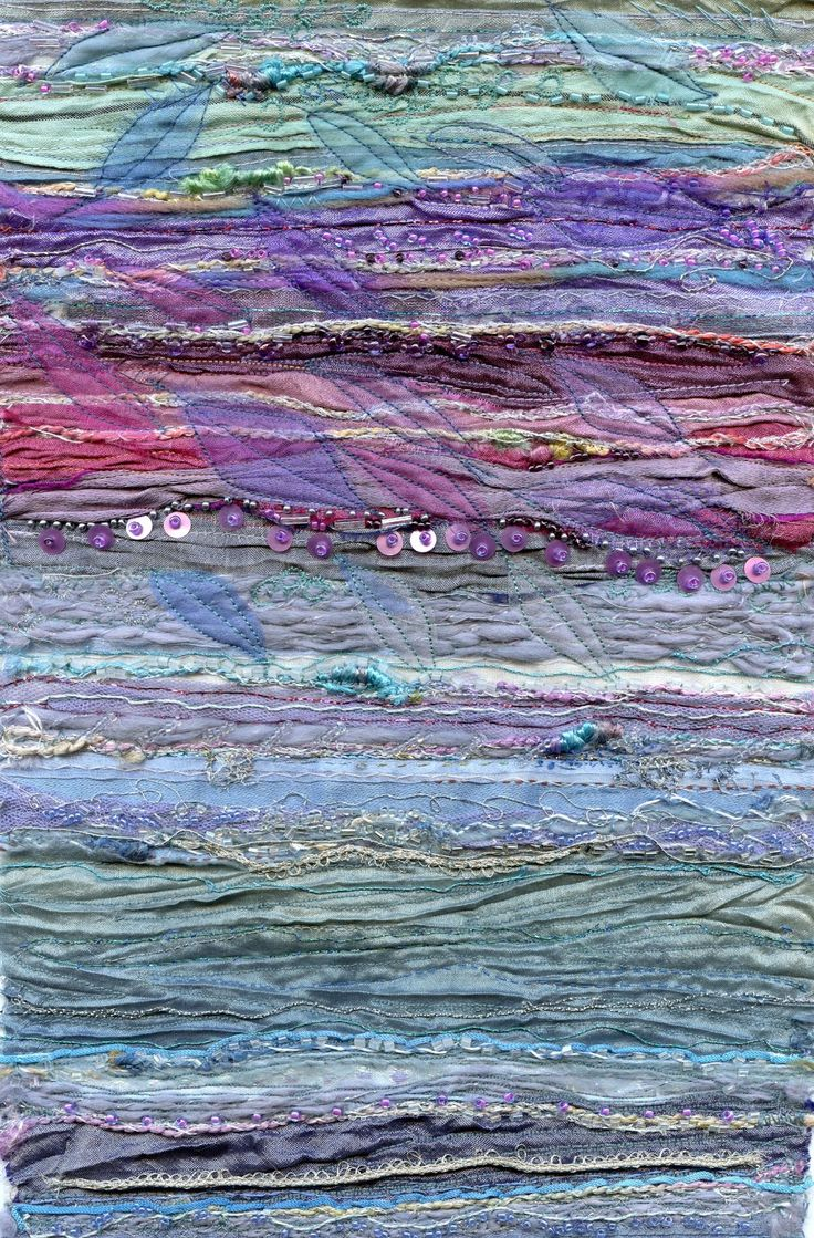 Recycled sari silk embroidery  rosiestitch.blogspot