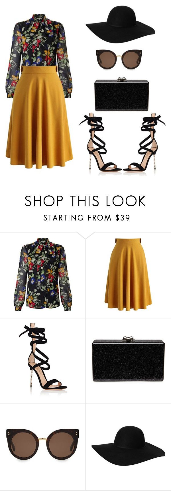 """Simple as that no.163"" by ronnie-27 ❤ liked on Polyvore featuring Somerset by Alice Temperley, Chicwish, Gianvito Rossi, Edie Parker, STELLA McCARTNEY and Monki"