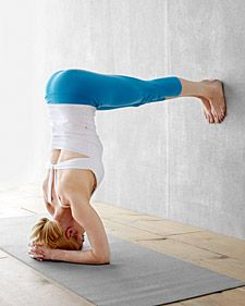 Try an (accessible) inversion once every day! Inversions help bring nutrient rich blood to the heart and brain, among many other benefits.