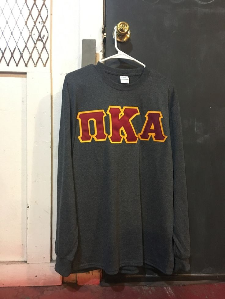 Pi Kappa Alpha PIKE Fraternity Long Sleeve Shirt- Charcoal Heater - Brothers and Sisters' Greek Store