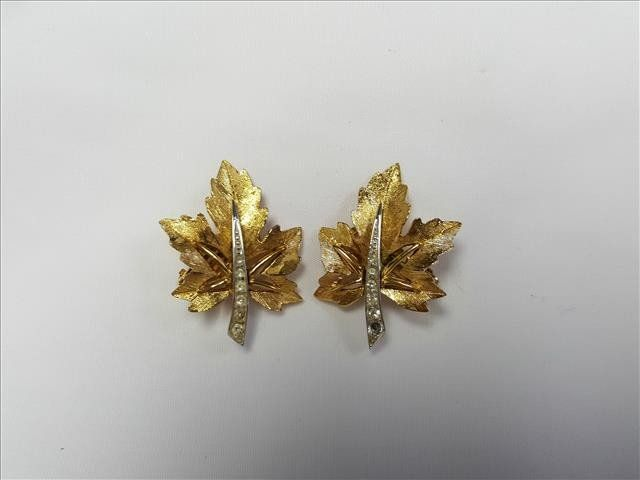 Maple Leaf Clip Earrings