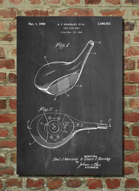 Golf Club Head Poster, Golf Club Head Patent, Golf Club Head Print, Golf Club Head Art, Golf Club Head Decor, Golf Club Head Wall Art