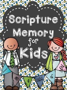 Bible Memory Verse for Kids (Whole Year)