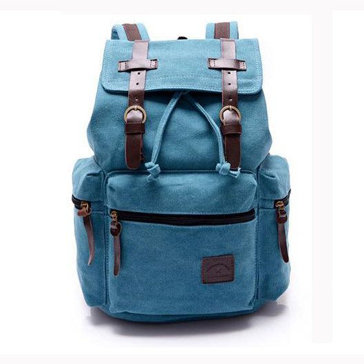 Fashionable backpack  school bag Canvas backpack retro by Love1220, $34.99
