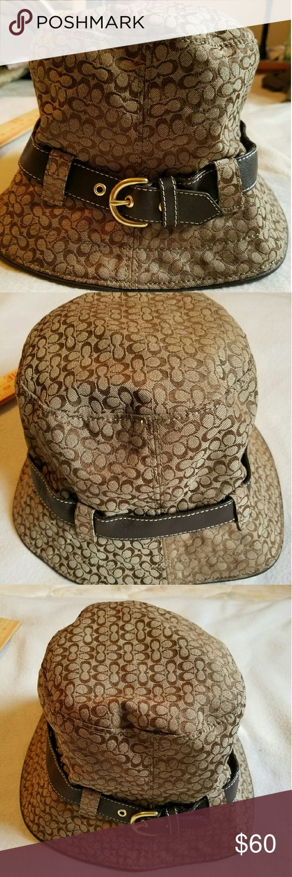 Coach hat. Beautiful coach hat worn only a handful of times. Size M/L. Runs kind of big though. Coach Accessories Hats
