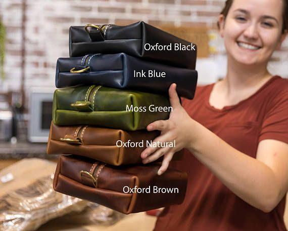 Heirloom Dopp Kit Bag GROOMSMEN GIFT  | Leather Toiletry Bag with Monogram |  Dopp Kit Lifetime Leather Co | https://www.etsy.com/ca/listing/565795379/