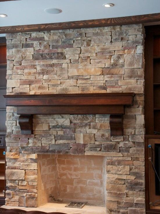 Ledge Stone Fireplaces Design
