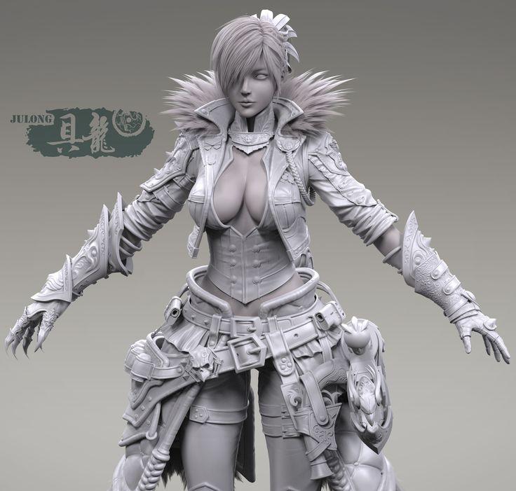 ArtStation - 《Attack on Titan_Katarina》Highpoly, Ju long