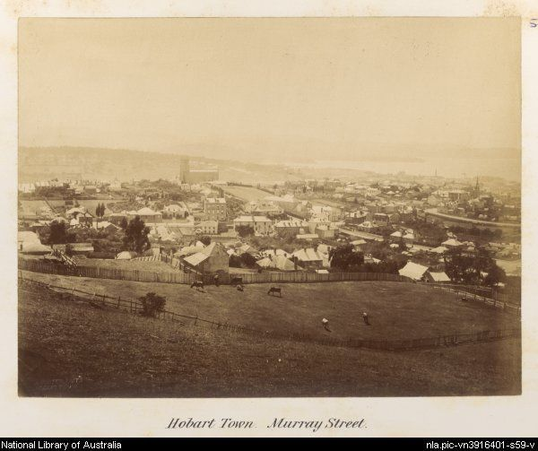 View of Murray Street in Hobart, Tasmania ca. 1878-79 [picture]. - Part of  My tour, 1878-79, Vol.1 [picture] .