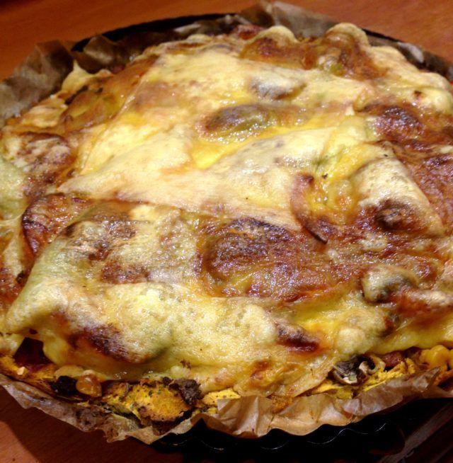 Bezglutenowa pizza z batatów.