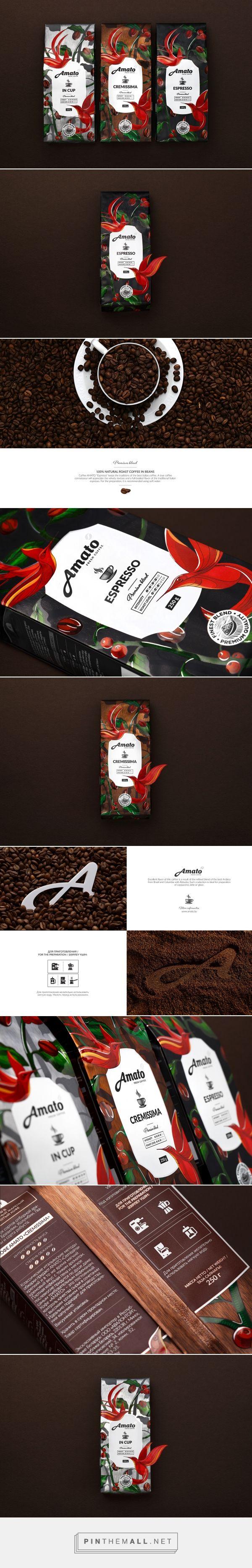 Amato Coffee packaging design by Fabula - http://www.packagingoftheworld.com/2016/10/amato-coffee.html