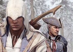 """""""Well played."""" Haytham and Connor Kenway sass. Assassin's Creed III."""