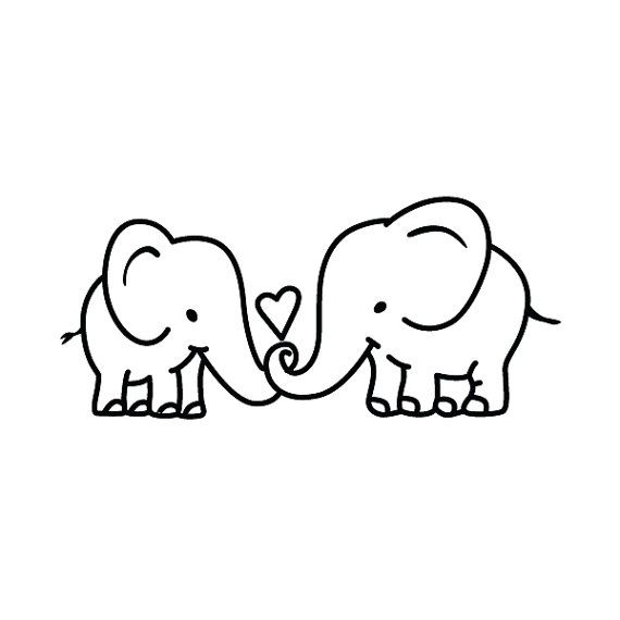 Elephant Couple – Temporary Tattoo (Set of 2)   – Elefanten