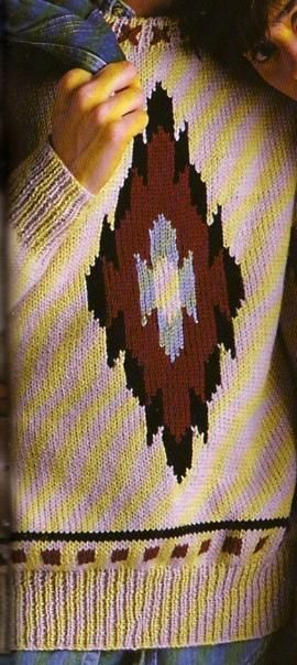 Il n'est pas facile de trouver de jolis modèles de pull pour homme, j'ai trouvé celui-ci avec ses motifs géométriques très original. Il existe d'ailleurs son pendant au féminin : Le pull aztèque Aiguilles N° 4 et 4,5 Spécial Hommes : Le pull à torsades...