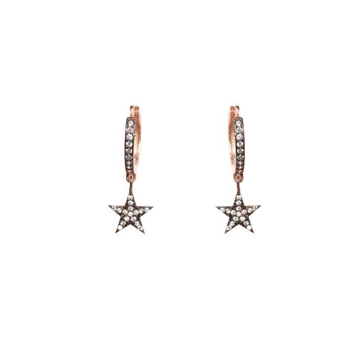 Star Mini Hoop Earrings   Wild Hearts   Wolf & Badger