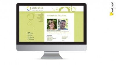 Praxis Lichtblick, Allschwil, Flexipage, Webdesign, Internetauftritt