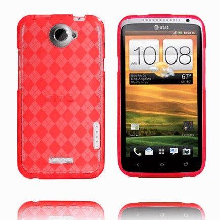 Tuxedo (Rød Gjennomsiktig) HTC One X Skydd