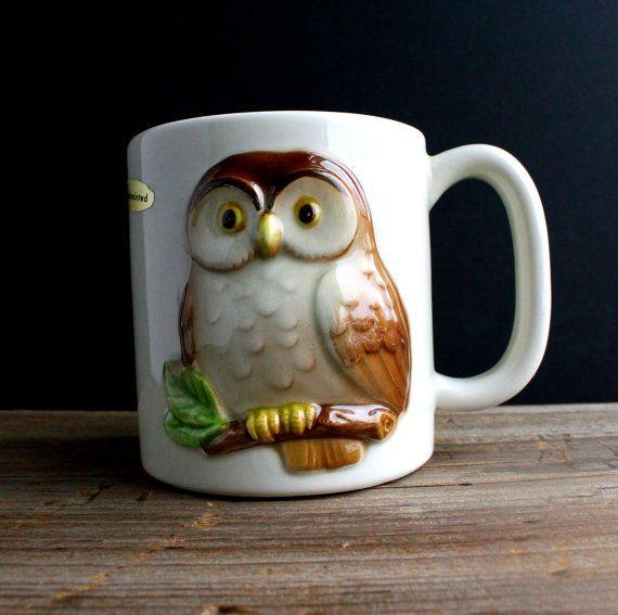 {Vintage Owl Mug by Otagiri} so cute!