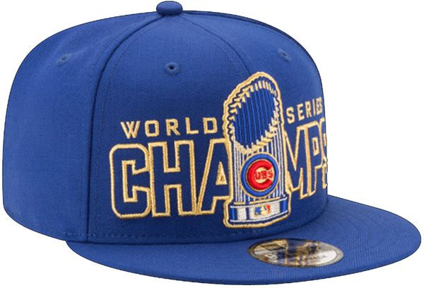 Chicago Cubs 2016 World Series Champions Gold Collection 9FIFTY Snapback Hat #ChicagoCubs #Cubs #FlyTheW #MLB #ThatsCub