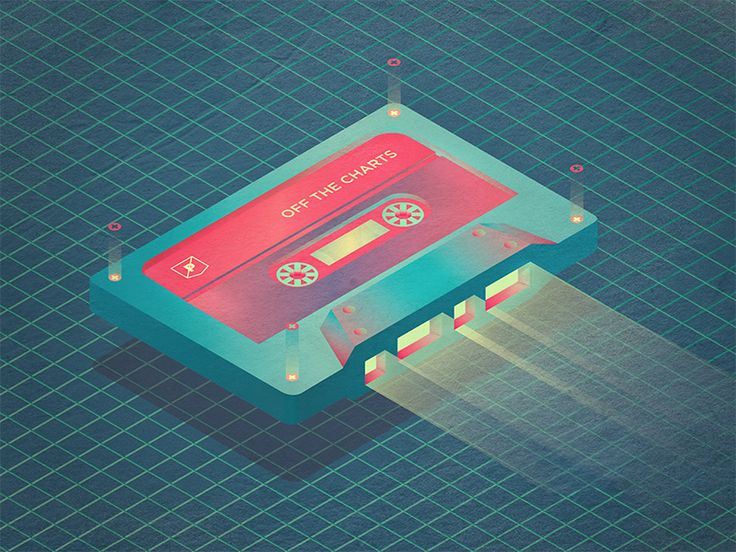 Mixtape illustration inspired by Tron, Stranger Things, and a wave of nostalgia. Check out the playlist at: prpl.rs/x/PRPLplaylist