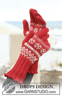 """DROPS 122-3 - Set comprises: Knitted DROPS hat, neck warmer and mittens in """"Karisma"""" with Norwegian pattern. - Free pattern by DROPS Design"""